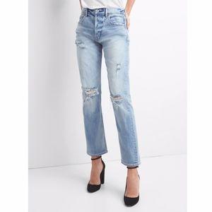 GAP cone denim high rise straight leg jeans 25R